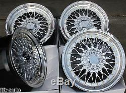 17 Cruize Classic Wheels Alloy Deep Polished Silver 4x100 17 Inch Alloys