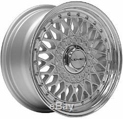 17 Silver Bsx Wheels Alloy For 4x100 Bmw Mini R50 R52 R55 R56 R57 R58 R59