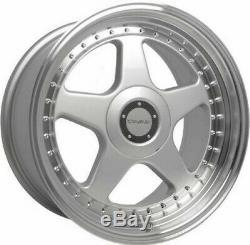 17 Silver Dare Dr-f5 Alloy Wheels For Bmw E36 1 Series Mini Paceman Jc R60