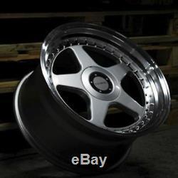 18 Silver Dare Dr-f5 Alloy Wheels For Bmw E36 1 Series Mini Paceman Jc R60