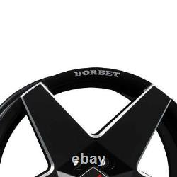 4 Rims Borbet A 7.5x17 Et35 4x100 Neu Swm For Mini Cabrio Cooper Clubman Coup