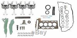 4x Excess Piston + 0.25 MM Mini R56 R57 Clubman Chain Distribution Kit