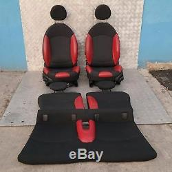 Bmw Mini Cooper 1 R56 Sport Half Leather Red Interiors Seats With Airbag