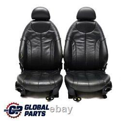 Bmw Mini Cooper R50 R53 Leather Profile Panther Black Innensitze Seat Session