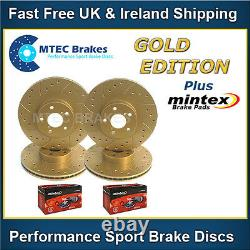 Bmw Mini Cooper S Edition Gold Disc Raintured Brake Perforated Front Back - Skates