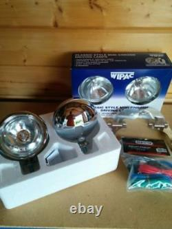 Bmw Mini Spot Lights Driving Lamps Brushed Steel Wipac S6066 Brille Like