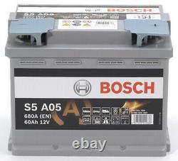 Bosch S5a05 Car Battery 60a/h-680a