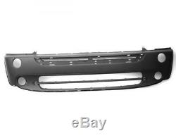 Bumper Front Mini One-cooper 2004-2006 To Paint With Holes Headbands