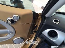Chrome Interior Dial Kit For 2001-2006 Bmw Mini Cooper / S / One R50 R52 R53