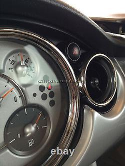 Chrome Interior Dial Kit For 2001-2006 Bmw Mini Cooper/s / One R50 R52 R53