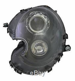 Front Light Mini R55 R56 R57 After 10/2006 Optics Xenon Black Driver Left