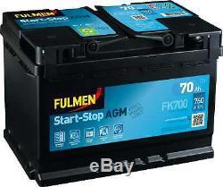 Fulmen Battery Start-stop Agm 70ah / 760a (fk700)
