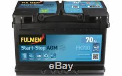 Fulmen Starting Battery 70ah / 760a For Nissan Qashqai Audi A3 Q3 Fk700