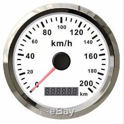 Gps 12v / 24v Car Truck Waterproof Stainless Meter Speed gauge 200km / H