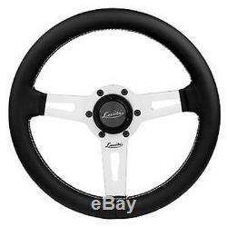 Leather Steering Wheel Black 340mm 13.4 Luisi Sharav 340 Black Brand New