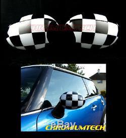 Mini Cooper Mk1 / O / One R50 R52 R53 Checkered Flag Cap Wing Mirror