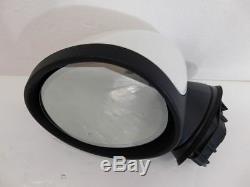 Mini F55 F56 F57 Outside Mirror Left With Electrochrome Cap White