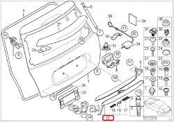 Mini New Genuine Cooper R50 R52 R53 Back Box Chrome Cover Handle