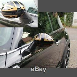 Mini One Cooper Clubman R55 R56 R57 R58 R59 Convertible Mirror Gold Union Jack
