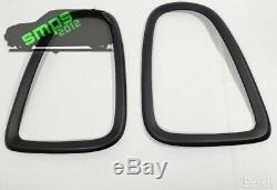 Mini R56, R57, R58, R59 Front & Rear Light Covers Super Matte Black 2006