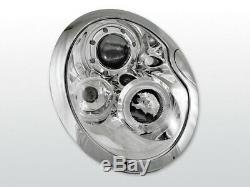 New! Projectors For Bmw Mini Cooper R50 R52 R53 2001-2006 Angel Eyes Chrome F