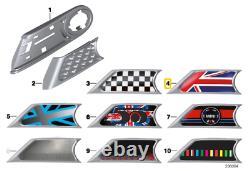New Real Mini R55 R56 R57 R58 R59 Jack Black Logo Side Marker Pair