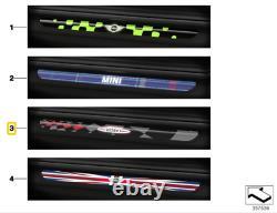 New True Mini F56 F57 Lighted Threshold Door Plates Jcw Pro 2357729 Oem