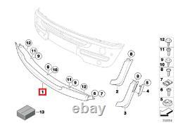 Nine D'origine Mini R50 R52 Convertible Pare-choc Cover Spoiler Centre 7127932