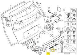Nine On Origin Mini R50 R52 R53 Safe Rear Handle Cover Chrome 7074020