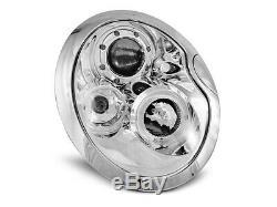 Nou! Faruri Pentru Mini Cooper Bmw R50 R52 R53 01-06 Angel Eyes Crom Lpmc01en
