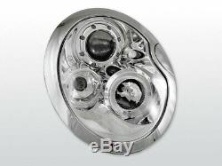 Offer Pair Headlights Bmw Mini Cooper R50 R52 R53 01-06 Halo Rims Chrome En Right Of Withdrawal