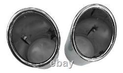 Original Quality 92-98mm Many Vehicles 2x Premium Inox Tip Pot