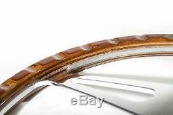 Steering Wheel Classic 13 '' Wood For Restoration Cutlass Mgb Midget Ac