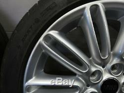 Summer Tires On 17 Inch Original Mini Jcw F55 F56 F57 Spoke Rims 500 6856099