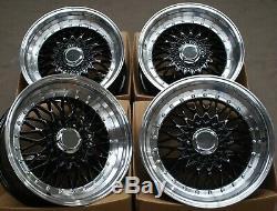 17 G Noir Rs Roues Alliage pour 4X100 BMW Mini R50 R52 R55 R56 R57 R58 R59
