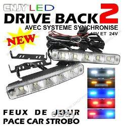 2 Feux De Jour Led E4 Reversible Penetration Calandre Mini R52 One Cooper D S