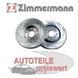 2 Zimmermann Disques de Frein de Sport avant Pour Mini R50 R52 R53