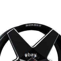 4 Jantes Borbet A neu 7.5x17 ET35 4x100 SWM pour Mini Cabrio Clubman Cooper Coup