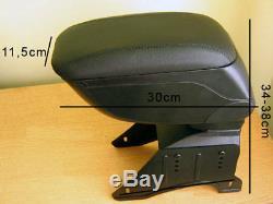 Accoudoir Console Central en Cuir Noir Spécifique pour Mini Cooper One R55 R56