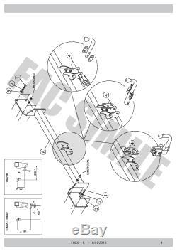 Attelage Col Cygne 7 broches pour Mini Clubman R55 Berline 3-5 p 07-15 11002/FE1