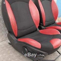 BMW Mini Cooper One 2 R56 Sports Demi Cuir Rouge Intérieur Siège avec Airbag