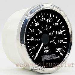 GPS Compteur de Vitesse Inoxydable Imperméable Jauge200MPH 300KMH Voiture Camion