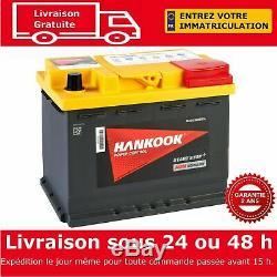 Hankook 12V 60Ah AGM Start Stop Batterie de Démarrage Pour Voiture 242x174x190mm