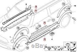 MINI ORIGINAL Bas de Caisse Aero Side Skirts R55 Clubman One Cooper S JCW