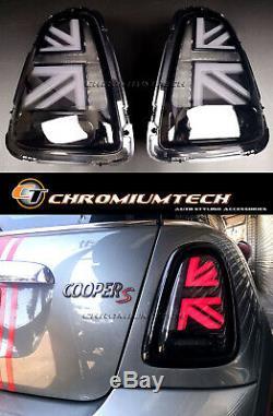 MK2 Mini Cooper/S R56 R57 R58 R59 3D Noir Union Jack Feux Arrière Pre-lci