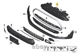 Mini Authentique F54 Clubman Avant Décoration Grille Capuche Chrome 51132704848
