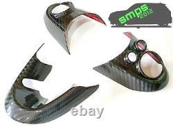 Mini Gen 3 Convertible F57 Véritable Brillant Carbone Fibre Volant Roue Housses