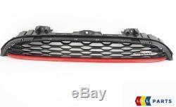 Mini Neuf D'Origine F56 F57 avant Jcw Noir Coupe Grille avec Logo Piment Rouge