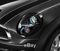 Mini Neuf D'Origine R55 R56 R57 R58 Jcw Noir de Jais Bordure Phare Jeu Segments