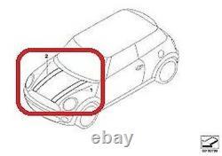 Mini Neuf R55 R56 R57 R58 R59 Capot Capuche Rayure Noir avec Blanc Rayure Paire